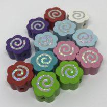 Flor espiral glitter