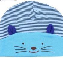 Gorrito gato azul rayas