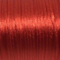 Cordón de satén rojo 1mm (1 metro)