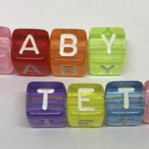 Letra acrílica arco iris 10mm