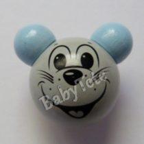 Ratón 3D gris/celeste