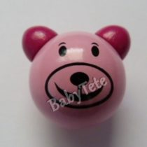 Oso 3D rosa/fucsia Mod2