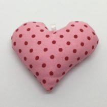Corazón rosa con lunares fucsia