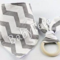 Bandolera + mordedor gris/blanco