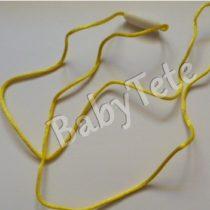Collar de satén con cierre amarillo