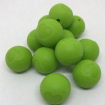 Bolita 15mm silicona relieve verde manzana