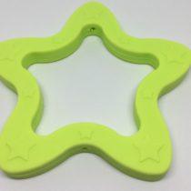 Aro silicona estrella verde limón