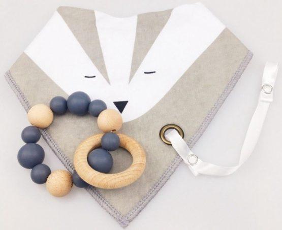 Bandolera + mordedor + cinta color gris