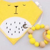 Bandolera + mordedor + cinta color amarillo