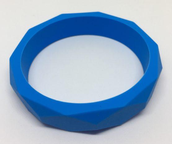 Aro facetado silicona azul
