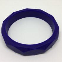 Aro facetado silicona azul marino