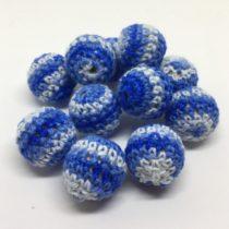Bola 20mm ganchillo blanco/azul/azul oscuro