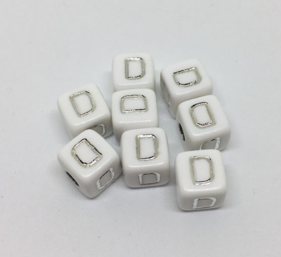 D – blanco/plata