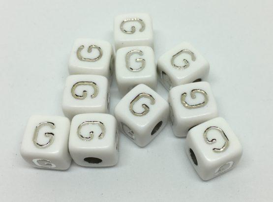 G – blanco/plata