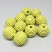 Bola 18mm tallada sin lacar amarillo