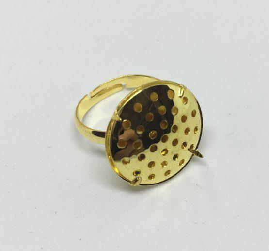 Base anillo con cabuchón dorado