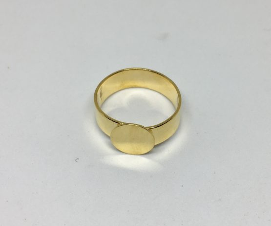Base anillo dorado 10mm