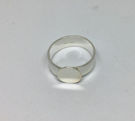 Base anillo plateado 10mm
