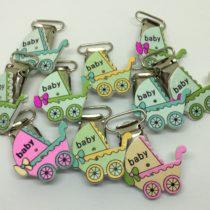 Pack 10 clip para cinta cochecitos bebé