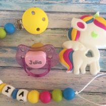 Babypack unicornio arcoiris