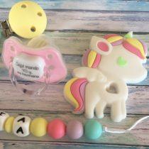 Babypack unicornio arcoiris pastel