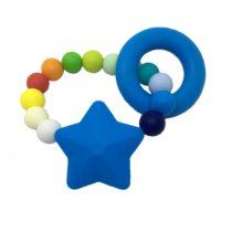 Mordedor silicona estrella azul