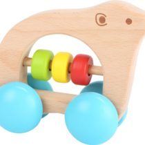 Juguete para agarrar oso sobre ruedas