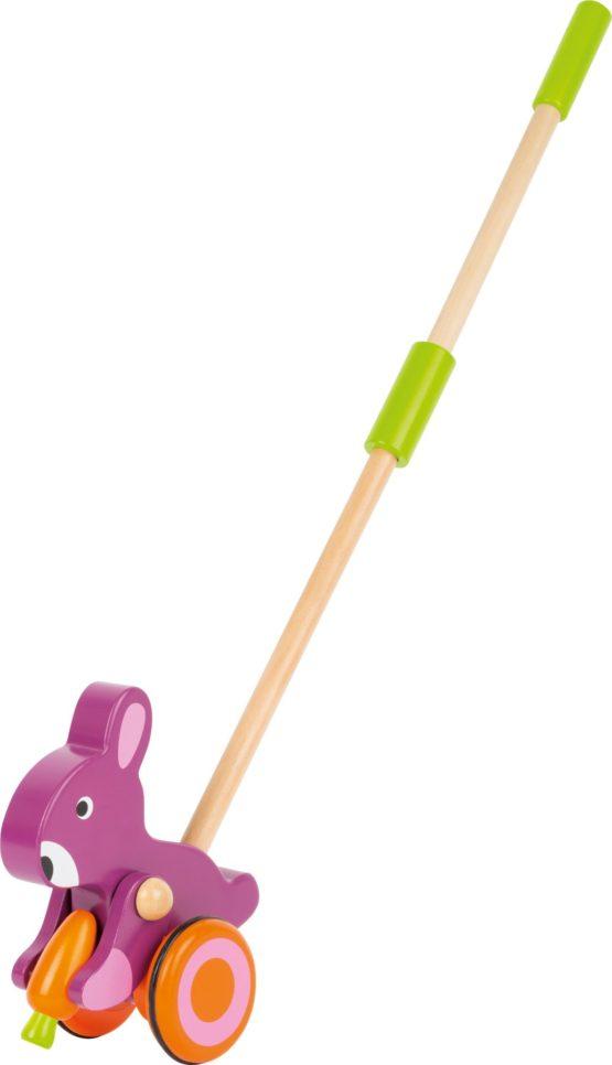 Animal para empujar conejito con zanahoria