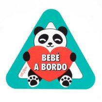 Pegatina para coche Bebé a Bordo Panda