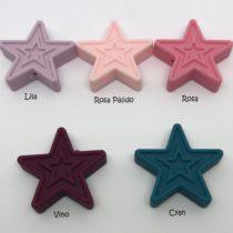 Estrella relieve silicona