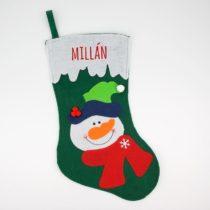 Calcetín Navidad Personalizado Muñeco de nieve