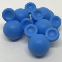 Cabecita ratón silicona maxi azul