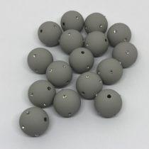 Bola 16mm acrílica gris con brillantes