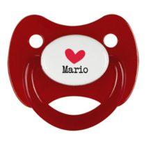 Chupete personalizado corazón rojo