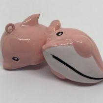 Cascabel delfín rosa maxi