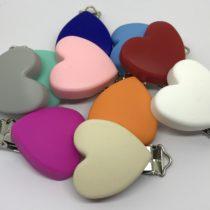 Clip corazón silicona