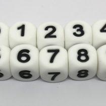 Número silicona blanco/negro