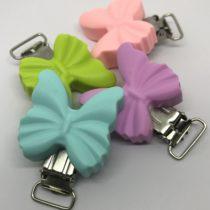 Clip mariposa silicona cinta