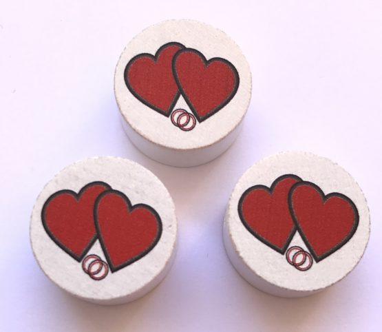 Corazón con anillos madera