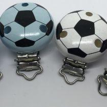 Clip pelota de fútbol madera Premium