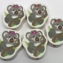 Koala con lazo madera Premium (2 colores a elegir)
