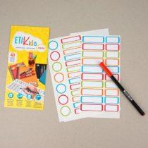Etikids etiquetas adhesivas para objetos 40u