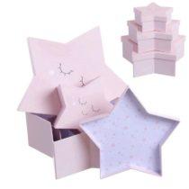 Cajitas de regalo estrellas rosa