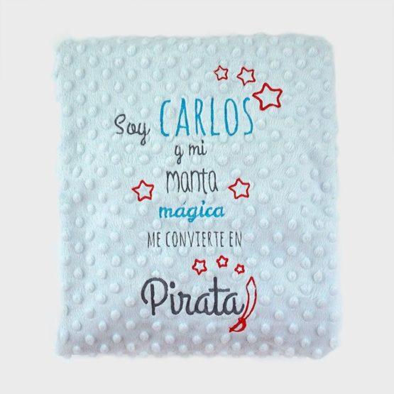 Manta cuento clásica Pirata personalizada