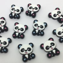 Panda sentado silicona