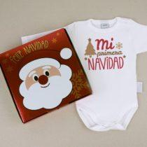Body Mi Primera Navidad con cajita de regalo