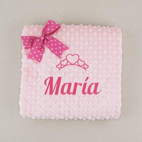 Manta Clásica rosa personalizada
