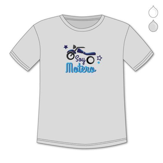 Camiseta Divertida Niño Soy motero