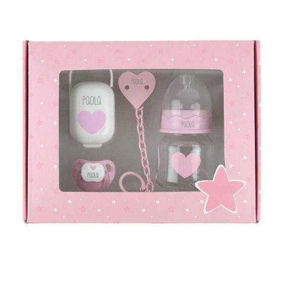 Cajita My Basics 150 Corazón Rosa Personalizada