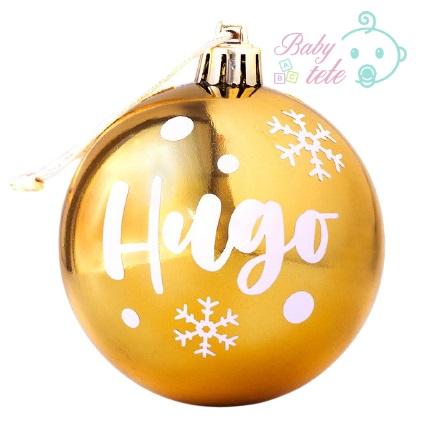 Bola de Navidad para árbol personalizada dorada